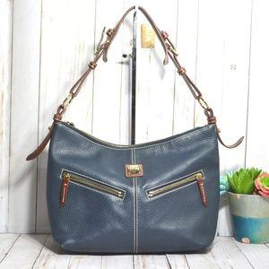 Dooney & Bourke  Pebbled Leather Mary Hobo Bag